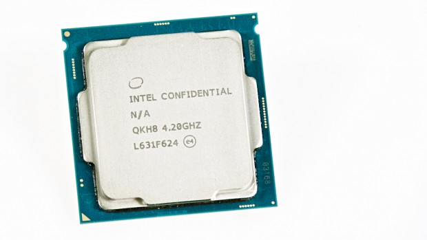 Intel schickte uns ein Qualification Sample des Core i7-7700K, keinen Retail-Chip (Foto: Marc Sauter/Golem.de)