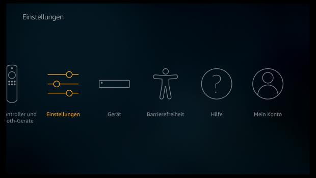 Im hinteren Bereich der Einstellungen findet sich die Funktion zur Barrierefreiheit. (Screenshot: Golem.de)
