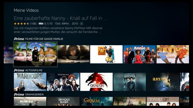 Wenn ein Filmcover nicht im Querformat vorliegt, wird das Hochformatbild mit unscharfem Hintergrund aufgefüllt. (Screenshot: Golem.de)