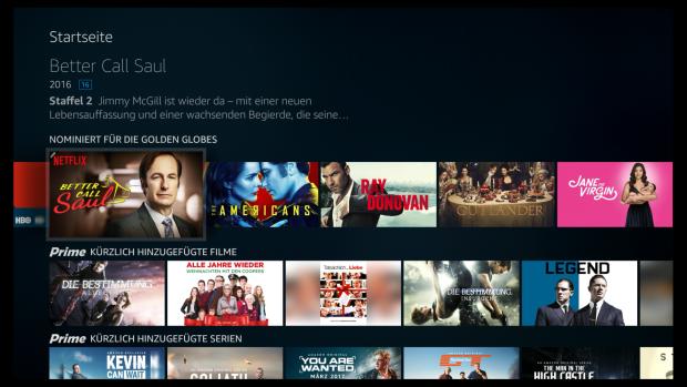 Keine optische Unterscheidung mehr zwischen Filmen und Serien, beide Inhalte erscheinen im Querformat.(Screenshot: Golem.de)