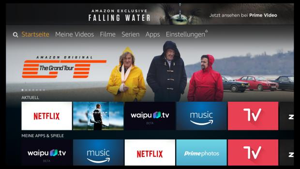 Der Startbildschirm der neuen Fire-TV-Oberfläche (Screenshot: Golem.de)