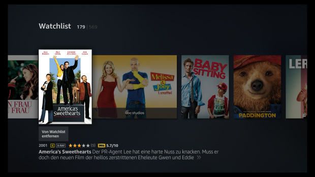 In der alten Fire-TV-Oberfläche lassen sich Filme und Serien mit einem Blick dank unterschiedlichem Cover-Format erkennen. (Screenshot: Golem.de)