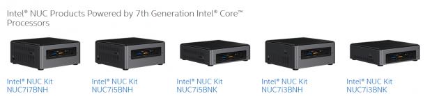 Fünf neue NUCs mit Kaby Lake (Bild: Intel)