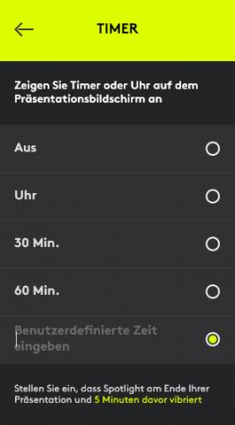 Ein Vibrationsalarm kann eingestelt werden. (Screenshot: Oliver Nickel/Golem.de)