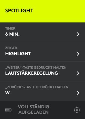 Den Navigationstasten kann man auch Makros zuweisen. (Screenshot: Oliver Nickel/Golem.de)