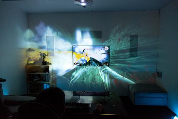 Raumprojektion mit Project Ariana (Foto: Martin Wolf/Golem.de)
