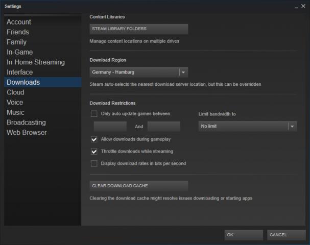Über Settings/Downloads muss ein zweiter Pfad vorhanden sein. (Screenshot: Golem.de)