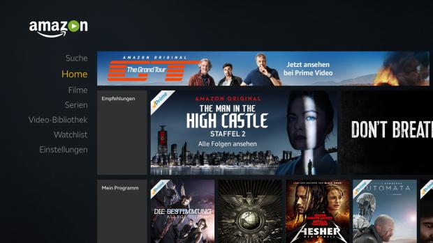 Der Hauptbildschirm von Amazons Video-App - hier beginnt es bei jedem App-Start. (Screenshot: Golem.de)