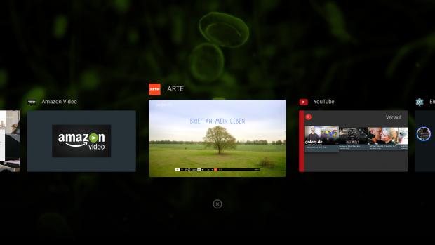 Android TV hat eine Task-Übersicht erhalten. (Screenshot: Golem.de)