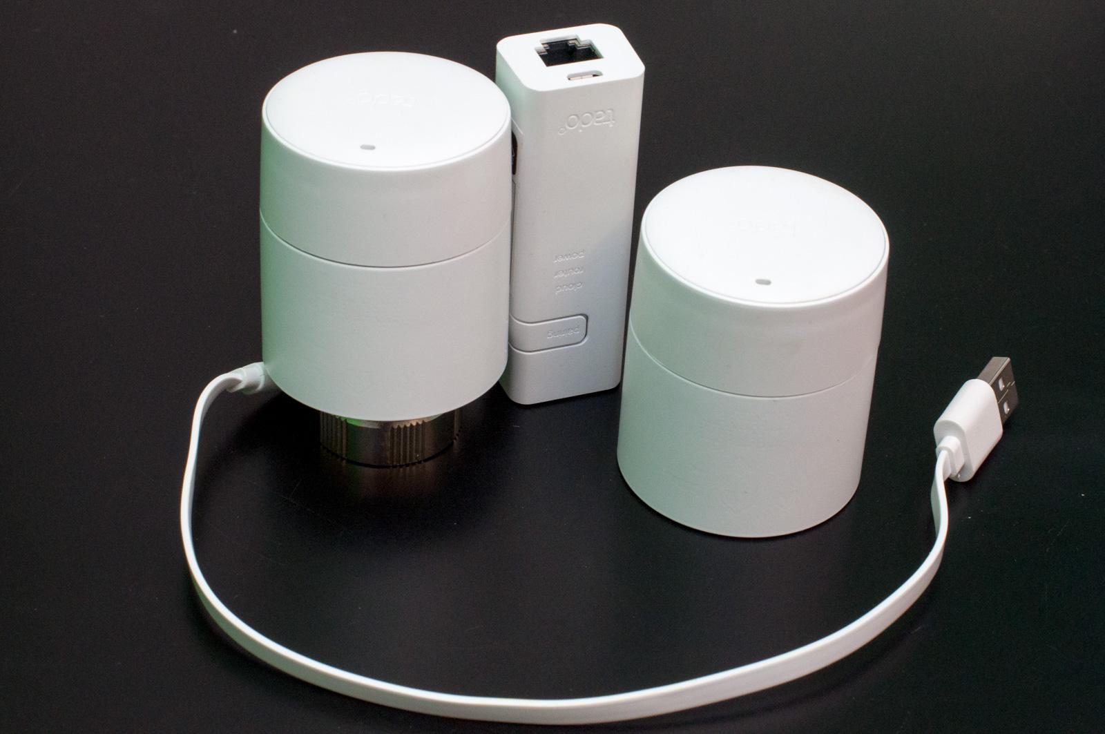 Tado im Test: Heizkörperthermostate mit effizientem Stalker-Modus - Sie kann per USB mit 120 mA an einem Router versorgt werden. (Foto: Andreas Sebayang/Golem.de)