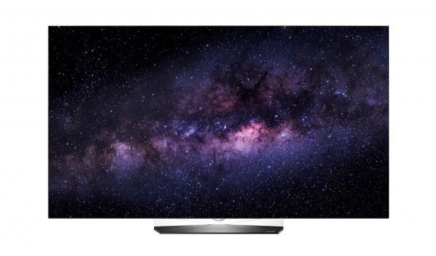 LGs OLED B6D wirkt durch den transparenten Standfuß am Abend so, als würde er schweben. (Bild: LG)