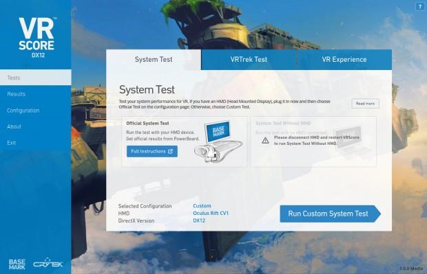 Basemarks VRScore (Screenshot: Golem.de)