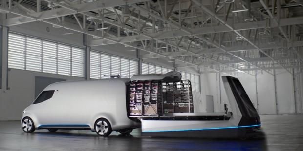 Mercedes-Benz Vision Van mit One-Shot Loading (Bild: Mercedes-Benz)