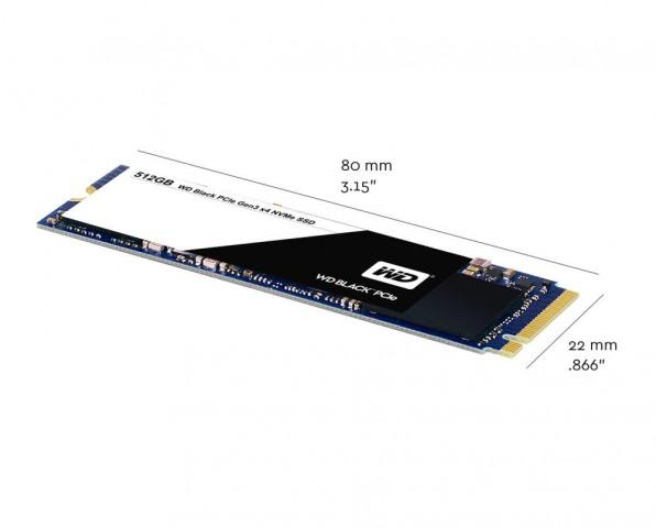 Abmessungen der Western Digital Black SSD (Bild: Western Digital)