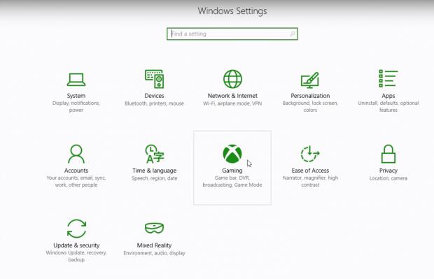 Der Game Mode wird unter dem Punkt 'Gaming' in den Win10-Einstellungen aktiviert. (Screenshot: Microsoft)
