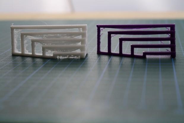 China-Filament und Hersteller-Einstellungen vs. deutsches Filament und Optimierungen (Bild: Alexander Merz/Golem.de)