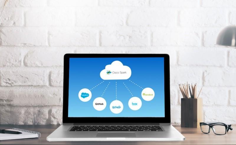 Spark: Cisco bringt die Videokonferenz aufs Smartboard - Cisco Spark nutzt eine Cloud-Anbindung. (Bild: Cisco)