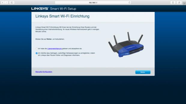 Der erste Schritt der automatischen Konfiguration (Screenshot: Golem.de)