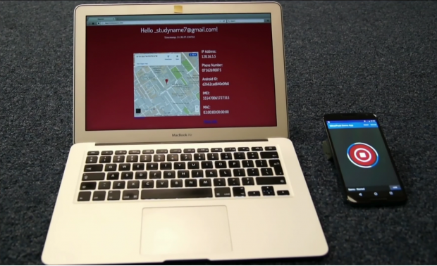Das Smartphone sendet auf Befehl hin umfangreiche Identifikationsdaten über den Tor-Nutzer. (Screenshot: Golem.de)