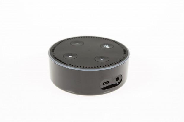 Der Echo Dot hat eine Micro-USB-Buchse und eine 3,5-mm-Klinkenbuchse. (Bild: Martin Wolf/Golem.de)