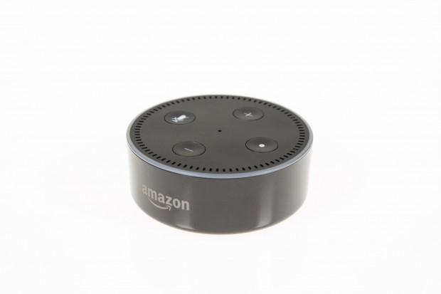 Der Echo Dot hat keinen Drehring, sondern Knöpfe zur händischen Lautstärke-Regelung. (Bild: Martin Wolf/Golem.de)