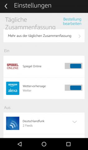 Für die Tageszusammenfassungen stehen verschiedene Quellen zur Wahl. (Screenshot: Golem.de)