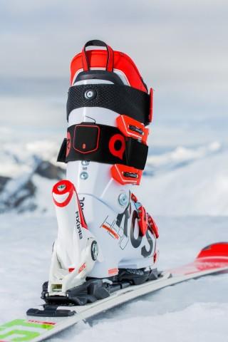 Skifahrer können den Sensor von Piq am Schuh festschnallen. (Bild: Piq)
