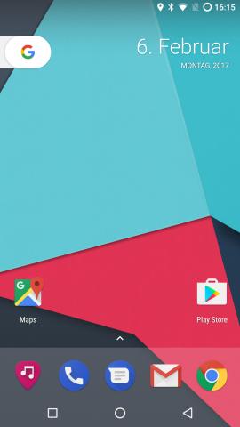 Der Pixel-Launcher auf dem Nexus 6P (Screenshot: Golem.de)