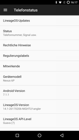 Lineageos Nexus  Build