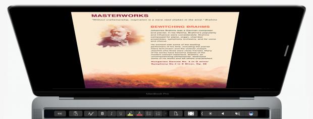 Microsoft zeigt Touch-Bar-Nutzung für Microsoft Office (Bild: Microsoft)