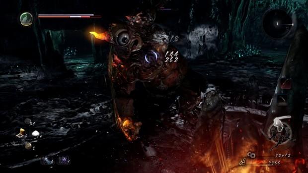 Kampf gegen einen Dämon (Nioh, PS4)