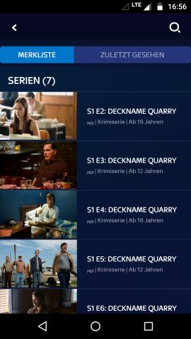 Beim Hinzufügen einer Serie wird jede einzelne Folge zur Merkliste gepackt. (Screenshot: Golem.de)