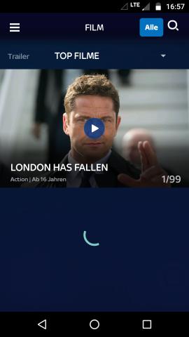 Geduld ist immer mal wieder gefragt, wenn Sky Ticket verwendet wird. (Screenshot: Golem.de)