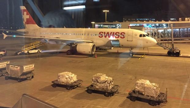 Swiss-Maschinen, hier ein Airbus A320, bieten nicht unbedingt mehr Platz als Billigflieger. (Foto: Andreas Sebayang/Golem.de)