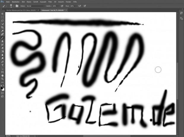 In Adobe Photoshop kann der druckempfindliche Stift mit großer Wirkung verwendet werden. (Screenshot: Oliver Nickel/Golem.de)