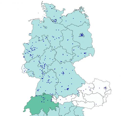 Wo überall gemessen wurde in Deutschland, Österreich, Schweiz, Luxemburg und Italien (Bild: Alexander Merz/Golem.de)