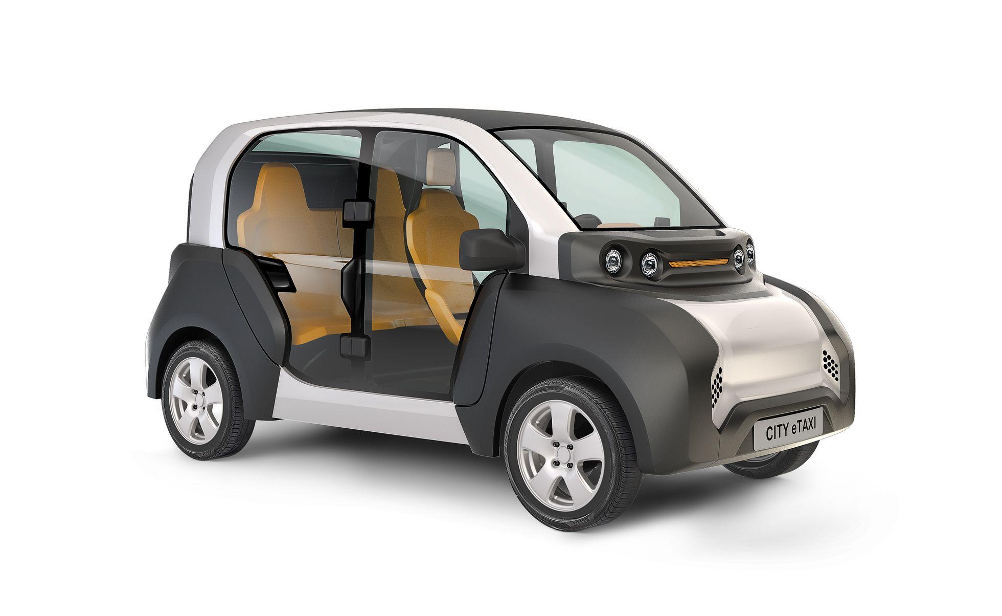 City E-Taxi: Ein Elektrotaxi mit Durchblick - Das City E-Taxi ist ein Elektroauto. (Bild: Naumann-Design)