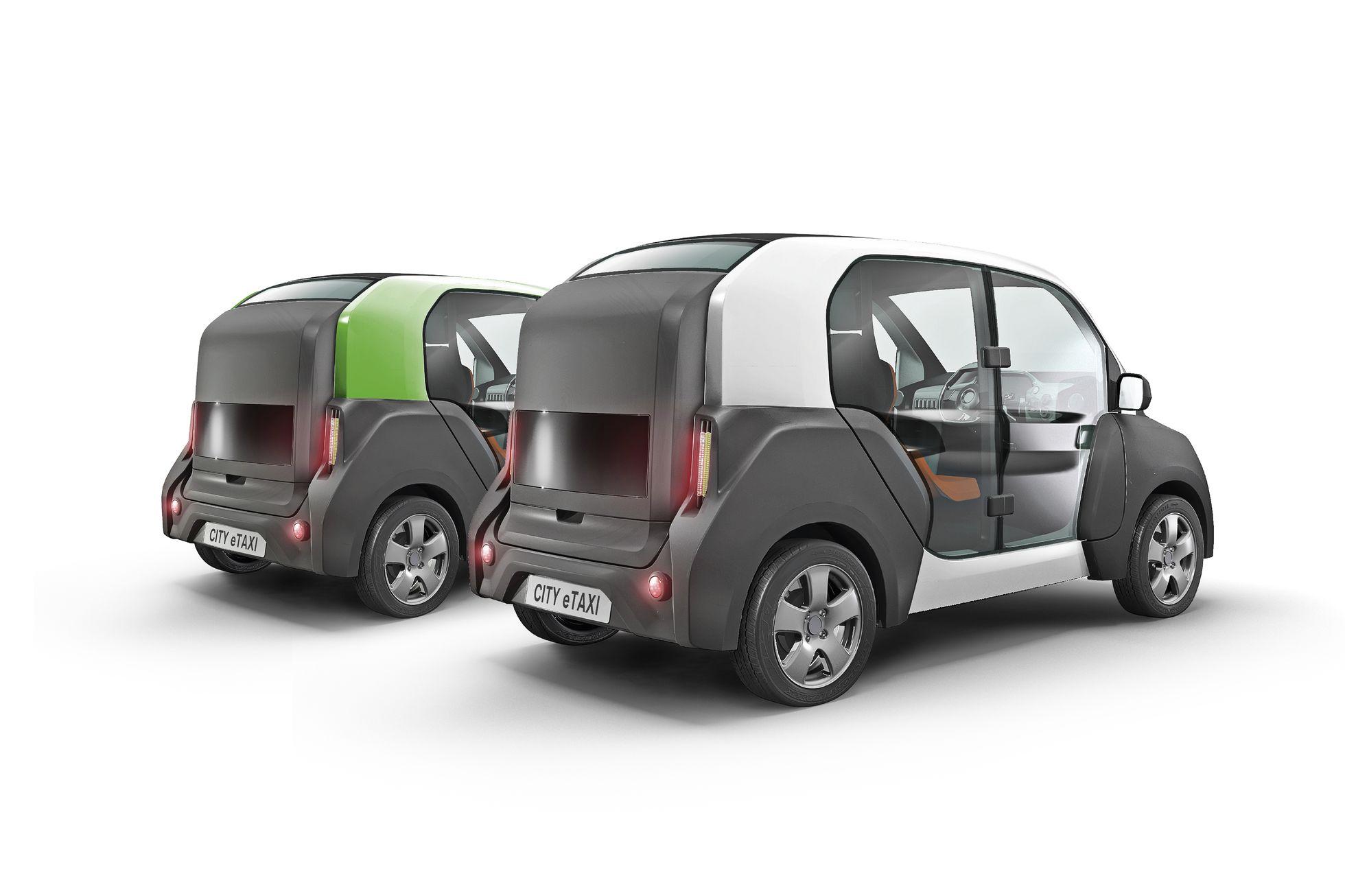 City E-Taxi: Ein Elektrotaxi mit Durchblick - Dann kann das Auto auch als Kleintransporter eingesetzt werden. (Bild: Naumann-Design)