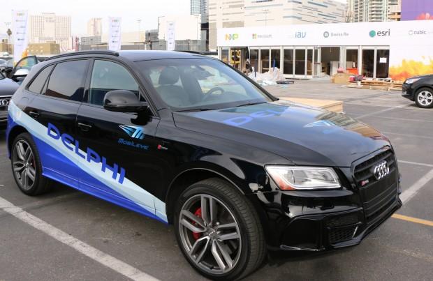 Delphi präsentierte auf der CES einen autonomen Audi, der in Kooperation mit Mobileye entwickelt wurde. (Foto: Friedhelm Greis/Golem.de)