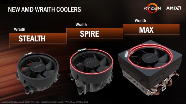 Drei neue CPU-Kühler für die Ryzen-Serie (Bild: AMD)