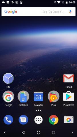 Beim Startbildschirm von Android O bleibt zunächst einmal alles beim Alten. (Screenshot: Golem.de)