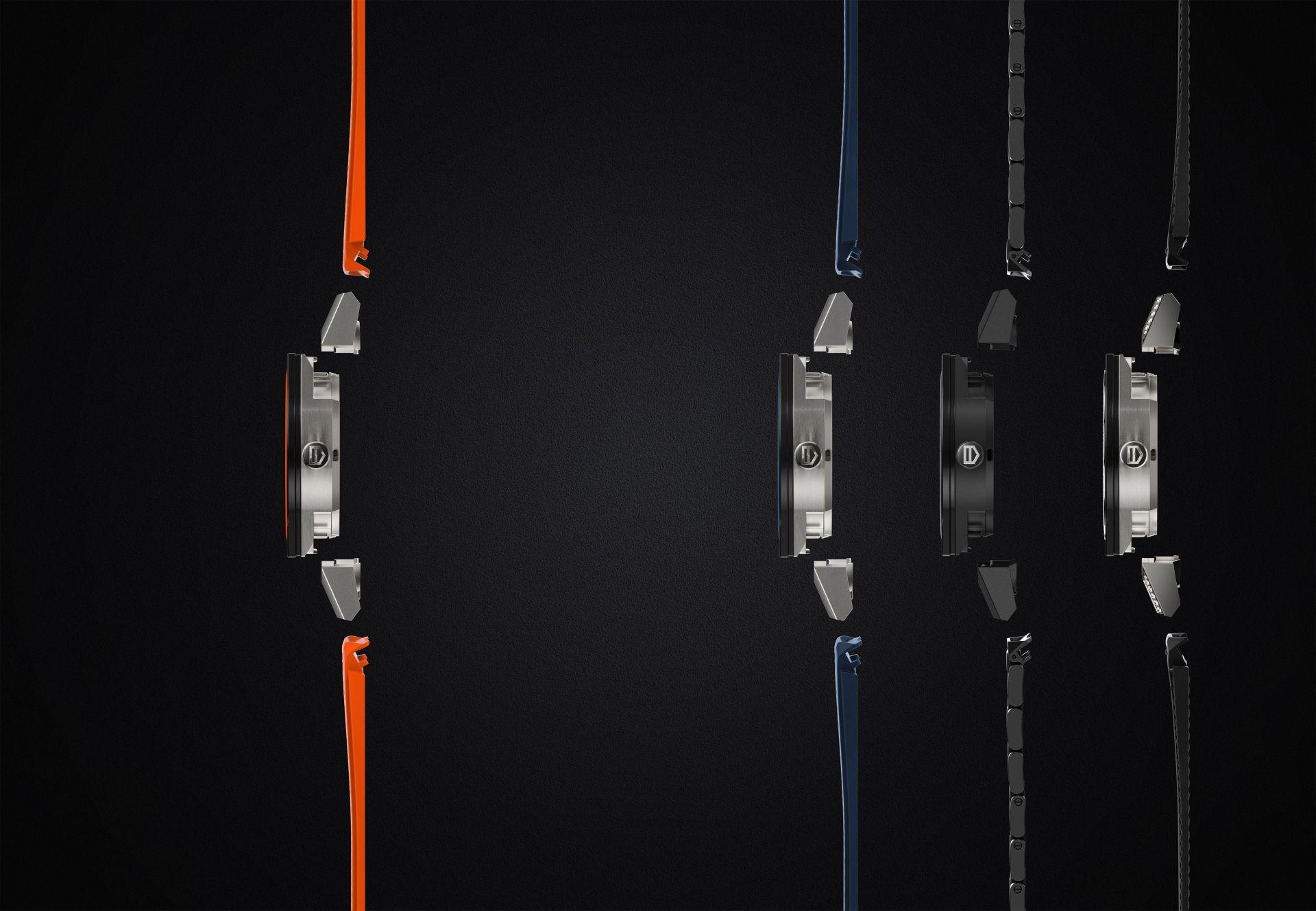Connected Modular 45: Tag Heuers neue Smartwatch kommt mit mechanischem Uhrwerk - Die verschiedenen Ausstattungsvarianten der Connected Modular 45 von Tag Heuer (Bild: Tag Heuer)