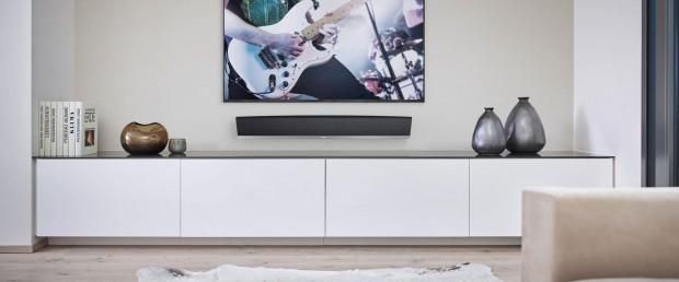 Die neue Soundbar HEOS Bar von Denon (Bild: Denon)
