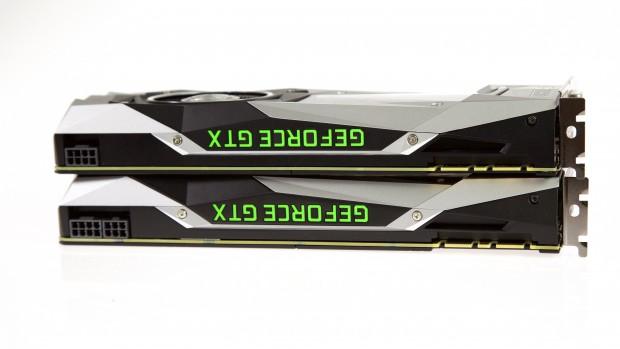 Die GTX 1080 und die GTX 1080 Ti sind gleich lang. (Foto: Michael Wieczorek/Golem.de)