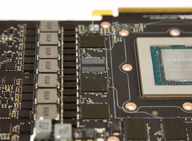 Ein Platz für den GDDR5X-Speicher bleibt bei der GTX 1080 Ti frei. (Foto: Michael Wieczorek/Golem.de)