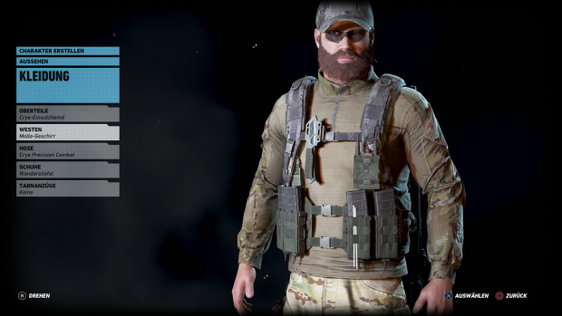 Vor Spielbeginn erstellen wir unsere Hauptfigur. (Screenshot: Golem.de)
