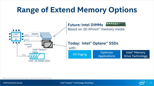 3D Xpoint kann als SSD oder als DIMM eingesetzt werden. (Bild: Intel)