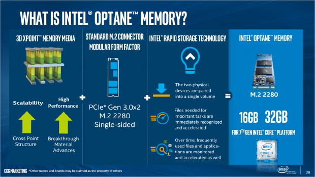 Optane Memory nutzt 3D-Xpoint-Speicher. (Bild: Intel)