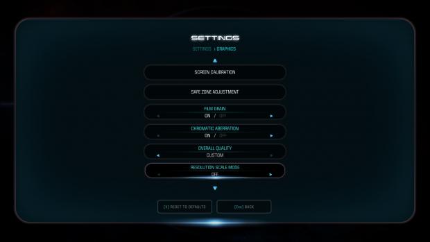 Grafikmenü der PC-Version von Mass Effect Andromeda (Bild: Nvidia)