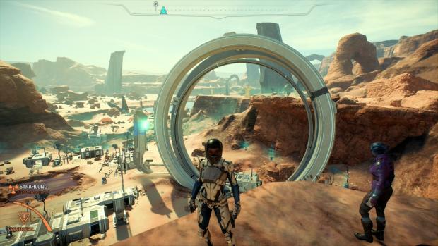 Auf dem Planeten Eos absolvieren wir mit unserem Team mehrere Missionen. (Screenshot: Golem.de)